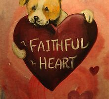 Pit Bull~Dog~FAithful Heart~Valentine by shinerdog