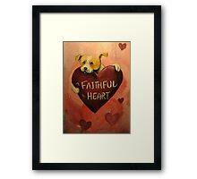 Pit Bull~Dog~FAithful Heart~Valentine Framed Print