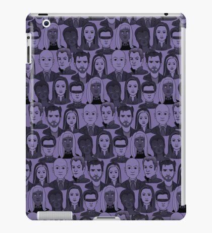 X Men Characters - Purple iPad Case/Skin