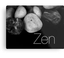 Zen Pebbles Metal Print