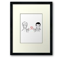Moriarty and Moran - Red String of Fate Framed Print