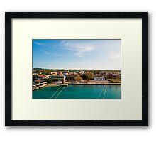 Bonaire Landscape Framed Print