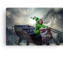 North Pole Joyride Canvas Print