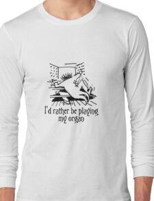 Funny cartoon of organist Long Sleeve T-Shirt