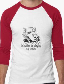 Funny cartoon of organist Men's Baseball ¾ T-Shirt