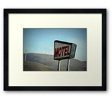 Retro Motel Framed Print