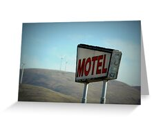 Retro Motel Greeting Card