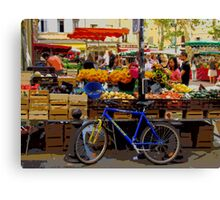 Aix-en-Provence - Market stall with bike Canvas Print
