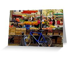 Aix-en-Provence - Market stall with bike Greeting Card