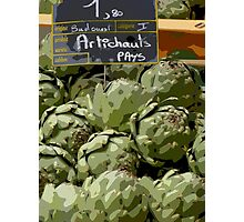 Dordogne - Artichokes in the market Photographic Print