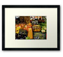 Aix-en-Provence - Assorted market vegetables Framed Print