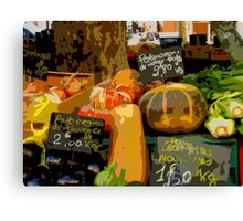 Aix-en-Provence - Assorted market vegetables Canvas Print