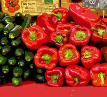 Aix-en-Provence - Corgettes and capsicums by Maureen Keogh