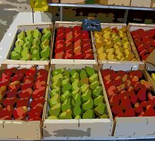 Aix-en-Provence - Boxes of pears by Maureen Keogh