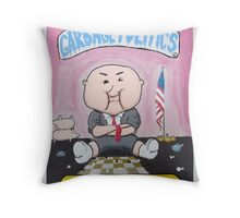 Garbage Politics Throw Pillow