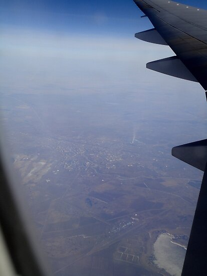 Air France Flight Over Russia 2012 by muz2142