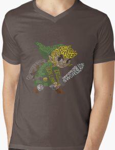 Toon Link Typography Mens V-Neck T-Shirt