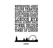 London Landmarks Photographic Print