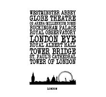 London Landmarks Photographic Print