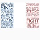 Les Miserables - Do You Hear The People Sing Flag by Emma Davis