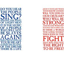 Les Miserables - Do You Hear The People Sing Flag Photographic Print