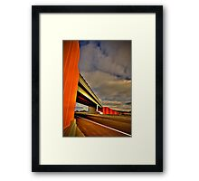 Freeway Overpass Framed Print