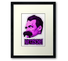 Nietzsche - Big Head Nietzsche! Framed Print