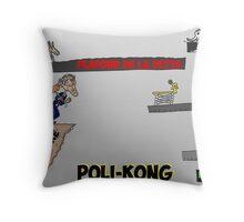 Poli-kong et Obama en caricature financier Throw Pillow