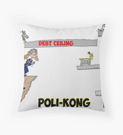 Poli-Kong economics President Obama caricature Throw Pillow