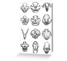 The Skull Zoo Greeting Card