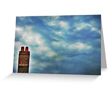 High Above The Chimney Top Greeting Card