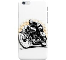 Vintage Motorcycle Racer iPhone Case/Skin