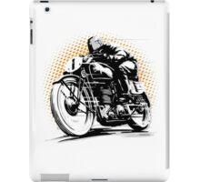 Vintage Motorcycle Racer iPad Case/Skin