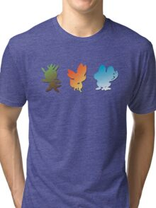 Pokemon X & Y Starters  Tri-blend T-Shirt