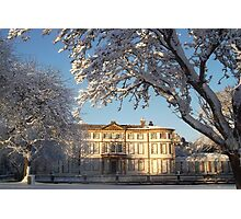 Sewerby hall in the snow Photographic Print