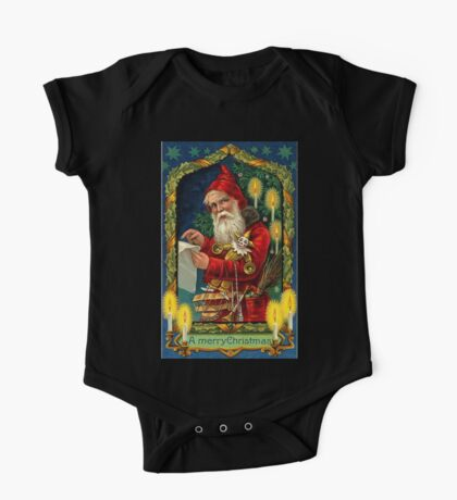 Merry Christmas Vintage -Available As Art Prints-Mugs,Cases,Duvets,T Shirts,Stickers,etc One Piece - Short Sleeve
