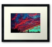 Scarlet Sky Framed Print