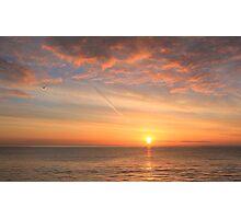classic sunrise over the sea Photographic Print