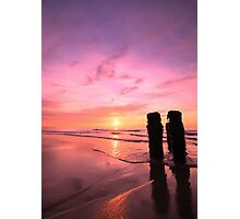 sunrise over the sea Photographic Print