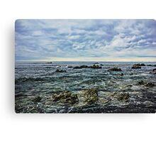 Sea,Stone,Sky Canvas Print