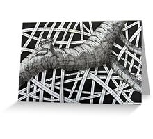 240 - TREE ABSTRACT - DAVE EDWARDS - INK - 2012 Greeting Card