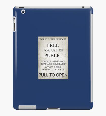 Doctor Who - Tardis Sign iPad Case/Skin