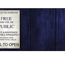 Doctor Who - Tardis Sign by BenH4