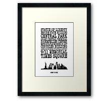 New York Landmarks Framed Print