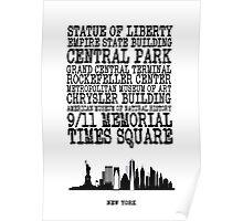 New York Landmarks Poster