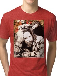 The Dude and his rug Tri-blend T-Shirt