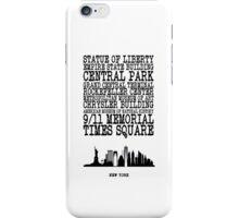 New York Landmarks iPhone Case/Skin