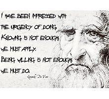 Leonardo da Vinci Photographic Print