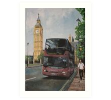 London Bus Art Print