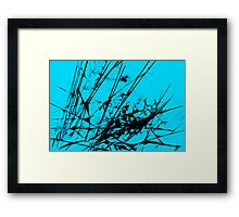 Strike Out Turquoise and Black Abstract Framed Print